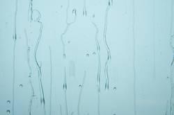 the drop, the rain on the window