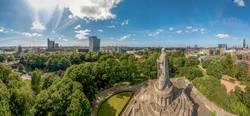 Panorama von Hamburg beim Bismarckdenkmal