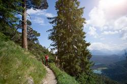 Mountain hiking in Bavarian Alps