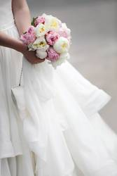 Bridal bouquet of colorful flowers