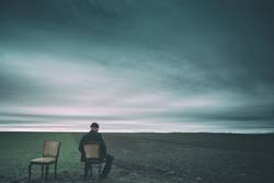 sitting waiting