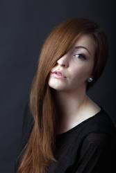 long hair and one eye