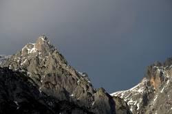 Felsen in der Wintersonne