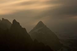 Bergspitzen in der Vollmondnacht...