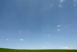 Das Blau des Himmels und das Grün des Grases...