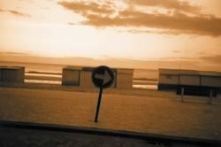 sonnenuntergang an der belgischen nordseekueste
