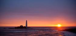 Sunset at St Mary's Lighthouse