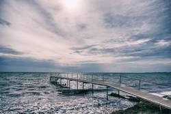 Badesteg bei Marstal auf der dänischen Insel Aerö