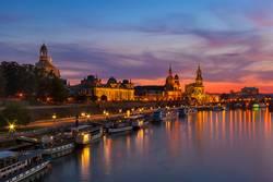 Dresden nach Sonnenuntergang