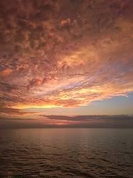 Sonnenuntergang auf dem Ozean
