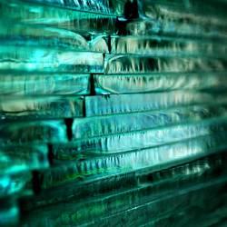 Quadriertes Glas