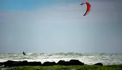 Kiten an der Nordsee