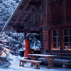 Zuhause beim Weihnachtsmann