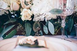 Tablescape with floral arrangement