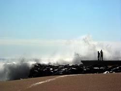 am Strand von Swakopmund