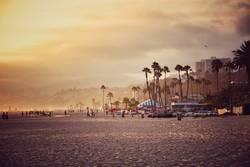 Los Angeles Beach am Santa Monica Pier