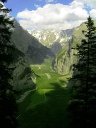 Bergtal in der Schweiz