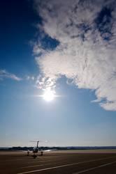 plane in the sun