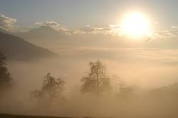 Rheintal im Nebel