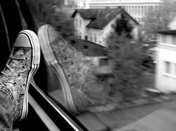 Schuh unterwegs
