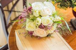 bridal bouquet the day of the wedding