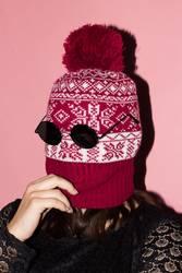 Fashion robber hat christmas portrait