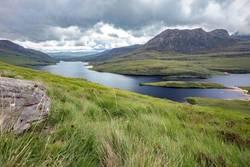 Aussicht von Stac Pollaidh, Ullapool, Schottland