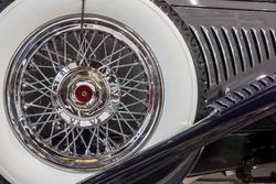 Spare wheel of a classic car.