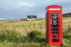 Phonebox in rural scotland.