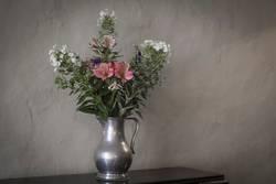 Flower pot in a historic castle.