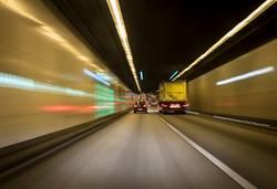 Motorway tunnel.