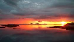 Sonnenuntergang an Schwedens Westküste