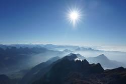 Fog in the alps