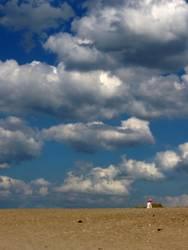 Sand, Strand und Wolken