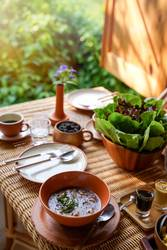 Healthy eating style, breakfast with delicious vegetables