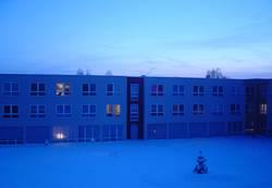 Haus in winterblau