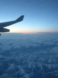 Ein morgen über den Alpen