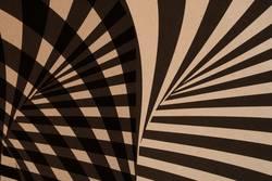 grafische Streifen auf Papier - schwarz und beige