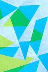 geometric shapes on paper texture - blue and green