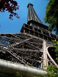 Eiffelturm Paris Perspektive vom Sockel bis zur Spitze
