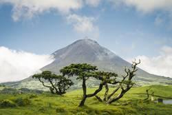 Vulkan Gipfel Pico, Azoren, Portugal