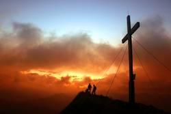 Morgenrot am Gipfel