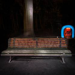 Lightscribe Art II - Illuminated Bench