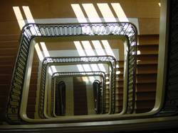 how many stairs must a page walk down?