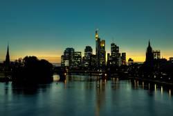 Frankfurt Skyline Sunset