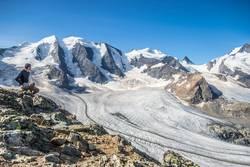 Grandioses Panorama in den Alpen