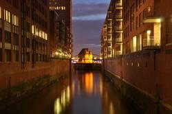 Hamburg Speicherstadt bei Nacht 2