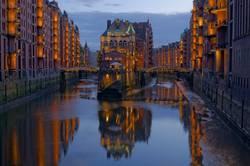 Hamburg Speicherstadt bei Nacht 1