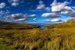 Malerische Landschaft bei Loch Eriboll in Schottland