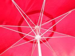 Schirm rot/weiß
